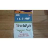 11. SINIF TÜRK EDEBİYATI YAPRAK TEST