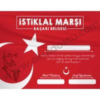 İstiklal Marşı Başarı Belgesi