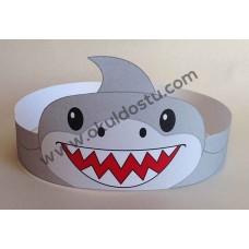 Köpek Balığı TAÇ ( Renkli)