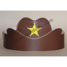 Kovboy Şapkası TAÇ ( Renkli )