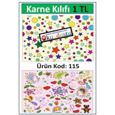İlkokullar için Karne Kılıfı Kod:115