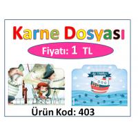 Çantalı Karne Dosyası Kod: 403