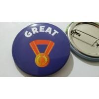 GREAT İngilizce Rozet (44 mm)