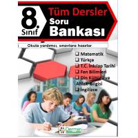 8. Sınıf Tüm Dersler Soru Bankası - Derman Yayınları